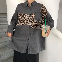 完贩 豹纹衬衣