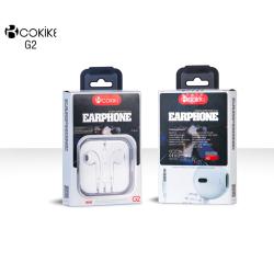 酷奇客COKIKE 有线耳机入耳式通用男女生6s适用iPhone苹果vivo华为小米oppo手机安卓有线控重低音炮耳塞 G2