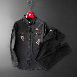 普兰因 奢华印度章衬衣款夹克/牛仔裤 811048/812302