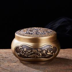 净梵 牡丹花铜炉