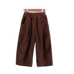 毛边灯芯绒童裤冬季