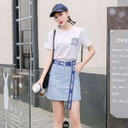 米兰圣 2019新款时尚半身裙春季牛仔裙 O21