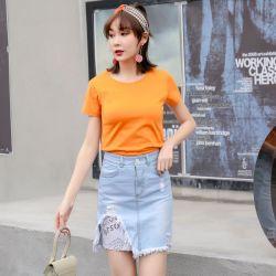 米兰圣 2019新款时尚半身裙春季牛仔裙 O31