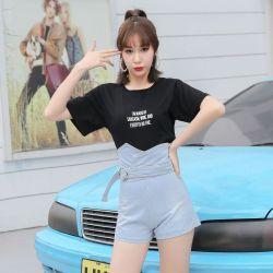 米兰圣 2019新款时尚春季高腰牛仔裤 O33
