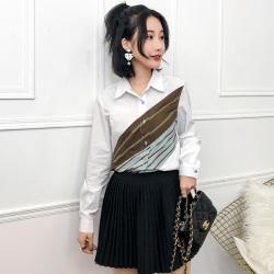 九万伊 2019春秋时尚新款撞色衬衫 2161