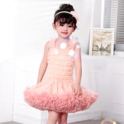 蔻儿丽莎 女童无袖背心网纱连衣裙 80116