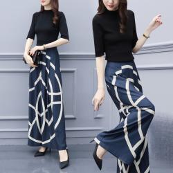 misu 新款女装时尚宽松显瘦小心机港味套装阔腿裤两件套 650