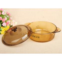 美国康宁晶彩透明锅 3.25升+蒸格