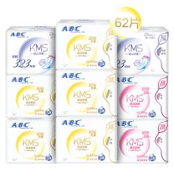 ABC KMS棉柔系列卫生巾 纤薄日夜组合装9包62片
