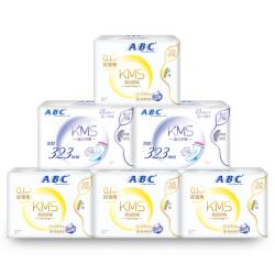 ABC KMS棉柔系列卫生巾 0.1cm轻透薄日夜甜睡组合装6包38片