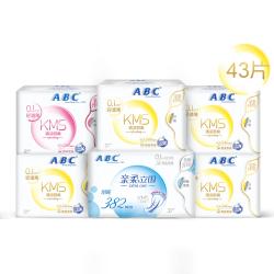 ABC 亲柔立围卫系列生巾 0.1cm轻透薄日夜组合装6包