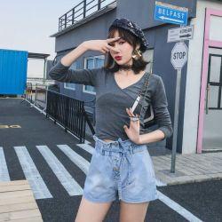 米兰圣 新款时尚个性牛仔短裤 O51
