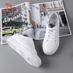 RD台湾红蜻蜓2019春季时尚爆款真皮小白鞋W191007