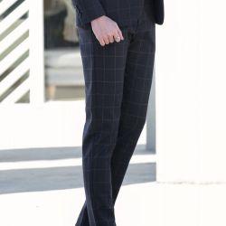 西裤男春夏修身免烫西装裤商务正装黑色西服裤子A168(A168)