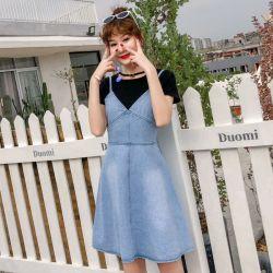 米兰圣 新款时尚个性牛仔裙(102)