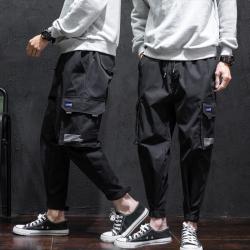 昊社 2018年新款窄脚休闲时尚小脚休闲裤 9018