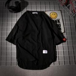 昊社 2019年新款夏季 宽松半袖男T恤 1061