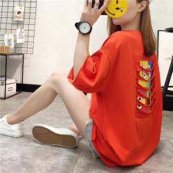 2019年 新款 舒适显瘦圆领T印花时尚短袖女 109847351