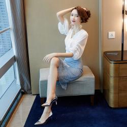 2019年 新款 时尚韩版套装气质女  323-8014(套装)