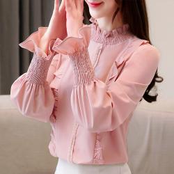 2019年 新款 韩版时尚袖口淑女气质衬衫女  449-A2-6073
