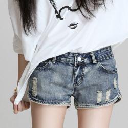 2019年 新款 牛仔短裤显瘦显高低腰牛仔短裤女 117-B-6824