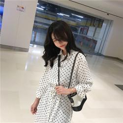 2019年 新款 小清新波点少女连衣裙舒适长袖女  041-A-2455