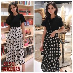 2019年 新款 韩版修身显瘦女神气质雪纺裙女  C421-C-8551