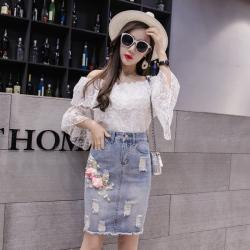 2019年新款 时尚潮流半身牛仔裙女 C302-B-7031