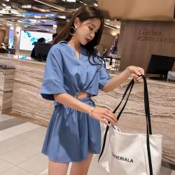 2019年新款 时尚简约两件套女 E435-A-9893