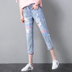 2019年新款 复古休闲修身牛仔裤女 A-109981397