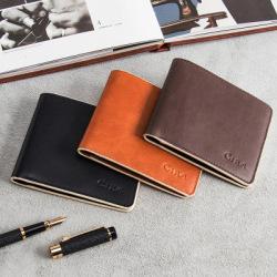 男士钱包2018新款欧美时尚短款真皮商务钱夹薄款牛皮折叠软皮夹子