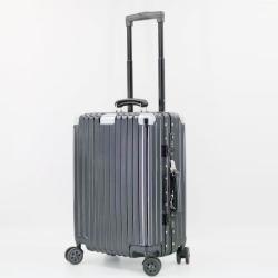 三人行 2019年新款行李箱旅行箱 轻便拉杆箱8091【24寸】