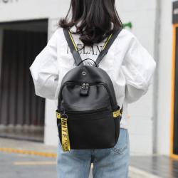 潮流时尚优雅软皮精致潮双肩包SJB005