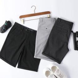 西装短裤男五分裤宽松西裤夏季薄款英伦韩版港风纯色5分休闲裤男 D266