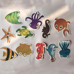 众旺 新款卡通安全防滑贴 海洋动物型 浴室防水