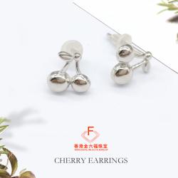 金六福珠宝 S925银耳钉樱桃