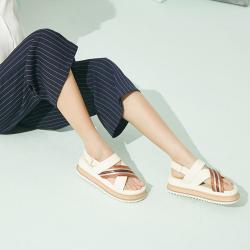 A1 厚底松糕鞋交叉织带女凉鞋 3019-1