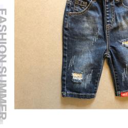HOMIDOKI 新款儿童破洞休闲牛仔短裤 B1901