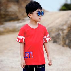 小班尼 洋氣兒童短袖上衣服中大童男孩韓版潮牌體恤 T15521