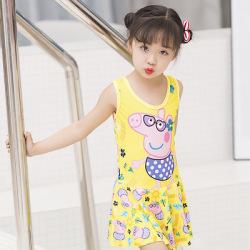 衣恋网 2019新款儿童泳衣时尚女童印花卡通泳装连体比基尼套装 厂家直销 141