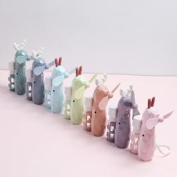 钻石兔子小鹿卡通喷水加湿USB充电风扇喷雾儿童外出户外电风扇