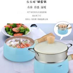 么么哒奶锅宝宝婴儿辅食锅不粘锅家用热牛奶锅煮泡面锅汤锅小奶锅