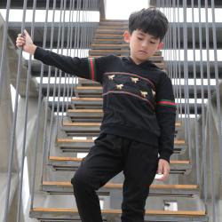 衫匙號 秋冬新款男童装带帽卫衣潮流中大男童长袖T恤 A3312037