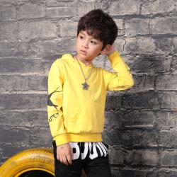 衫匙號 男童装休闲印花中大男童长袖T恤 2112241