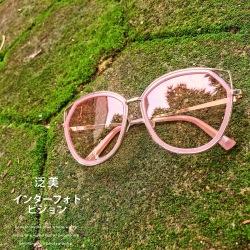 泛美  复古ins防紫外线太阳眼镜女2019新款猫耳朵可爱网红墨镜女小脸度假街拍潮