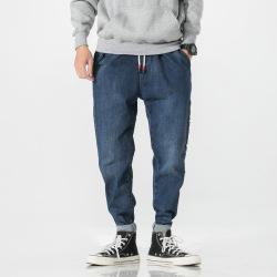 昊社 秋季男士牛仔裤 日系宽松牛仔长裤 5305