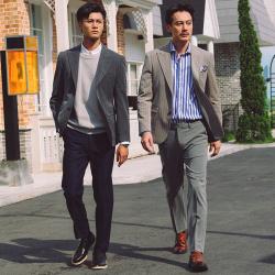 UNDERCROXX 时尚气质男士西装套装 两粒单排扣外套+西裤5350