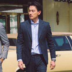 UNDERCOVER 时尚气质男士西装套装两粒单排扣外套+西裤 5352