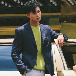 UNDERCROXX 时尚气质男士西装两粒单排扣外套  5356