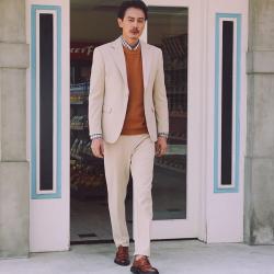 UNDERCROXX 時尚氣質男士西裝套裝一粒單排扣外套+西褲  5275